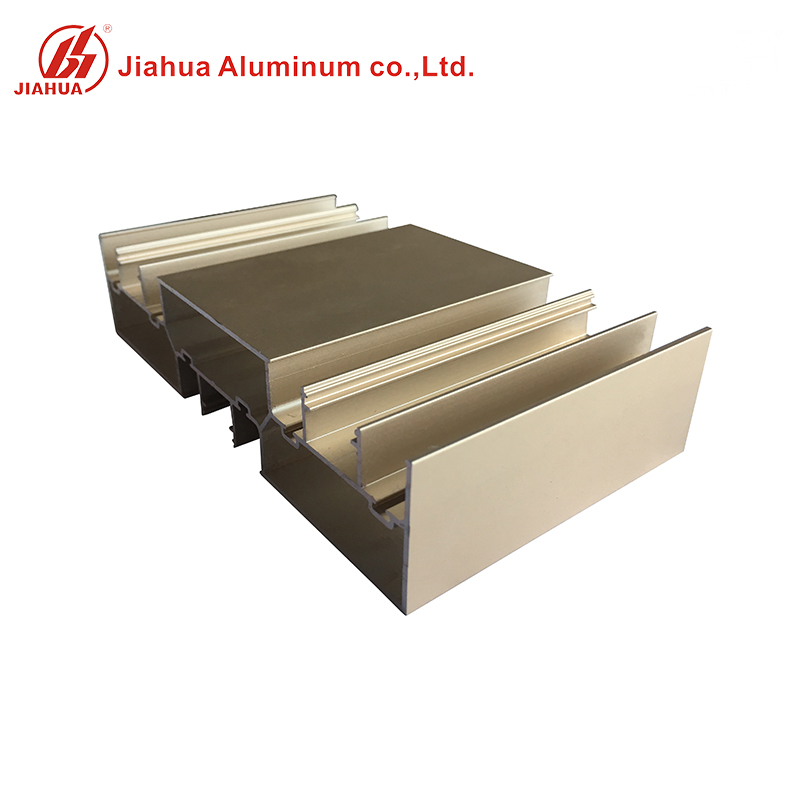 Golden Aluminum Extruded Window Bottom Frame Track Sliding Shower Parts for The Windows And Doors
