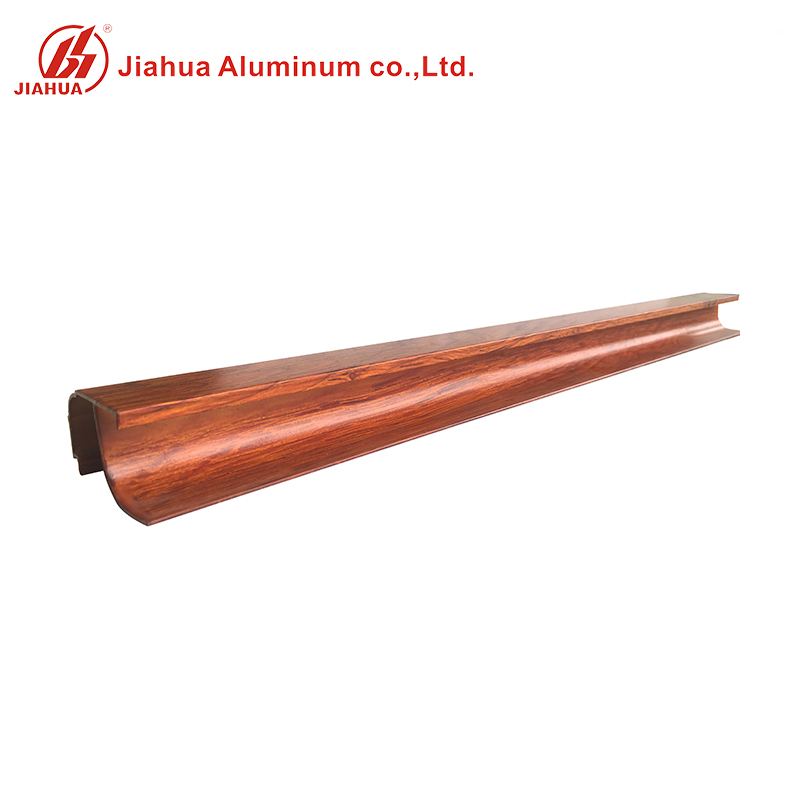 Wood Grain Aluminum Extrusion Furniture Edge Bending Profiles for Home Decoration