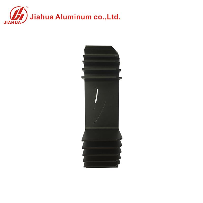 Black Anodized Deep Processing Heat Sink Aluminum Tubing