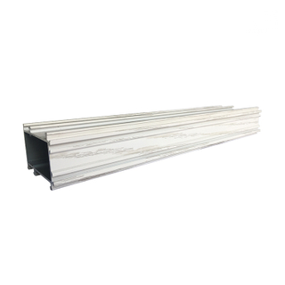 JIA HUA Attractive Price White Wood Finish 6063 T5 Aluminium Profiles for Wood Window