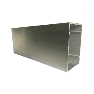 Foshan Anodized Silver Square Beam Tube Aluminium Extruded Profiles for India