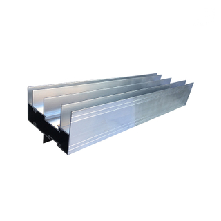 Jia Hua Mill Finish Top Track Aluminum Windows Profiles for Sliding Window Frame