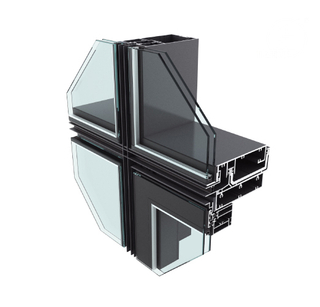 JYMQ110/120/130/140/150/160/180/200 Series Invisible Curtain Wall