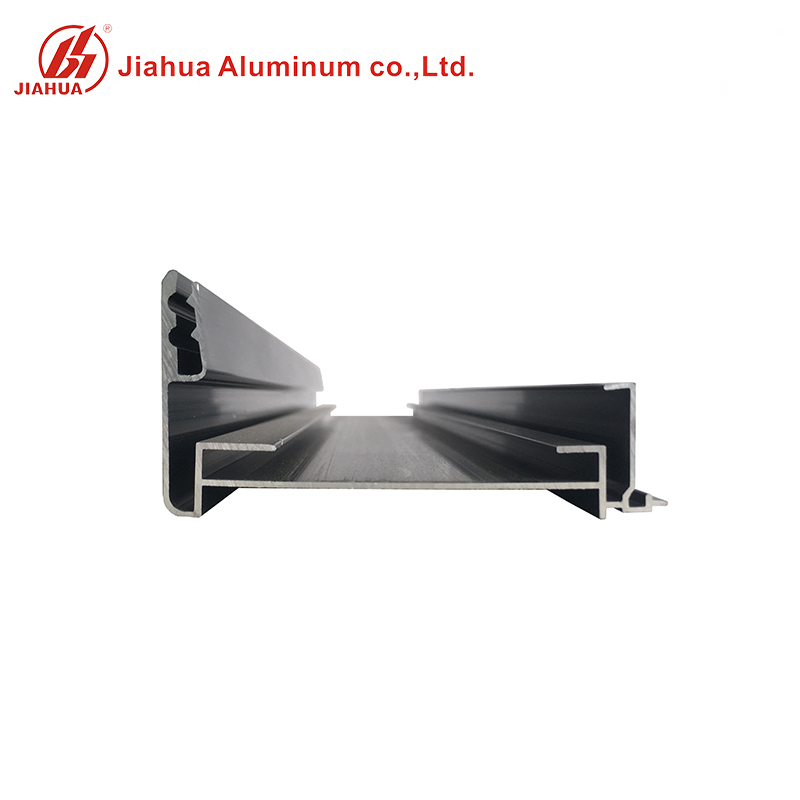Matt Black Color 6063 T5 Extruded Structural Aluminum Frame Profiles for Glass Door