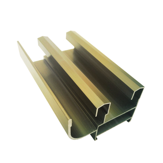 Anodized Champagne Anodized Aluminum Window Section Profiles for South Africa