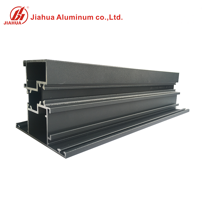 6063 Powder Coated Aluminum Windows Building Profiles with Double Low E Glass