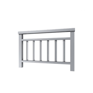 Horizontal Extruded Aluminum Balcony Hand Railling Profiles for Steps